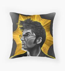 The Tenth Doctor David Tennant Hair Doctor Who Throw Pillow