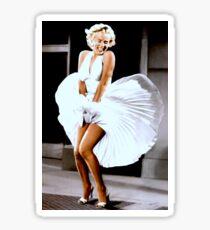 MARILYN MONROE: Scene of her Skirt Blowing Up Print Sticker