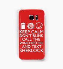SUPERWHOLOCK SUPERNATURAL DOCTOR WHO SHERLOCK Samsung Galaxy Case/Skin