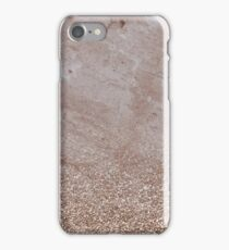 Rose gold taupe marble gradient iPhone Case/Skin