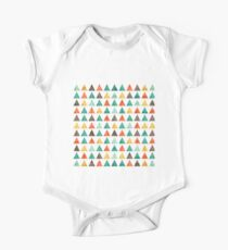 Colorful Geometric Pattern One Piece - Short Sleeve