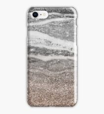Rose gold sepia marble with glitter gradient iPhone Case/Skin