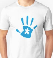 Autism hand autism awareness Unisex T-Shirt