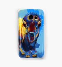 On the Plain - Bison painting Samsung Galaxy Case/Skin