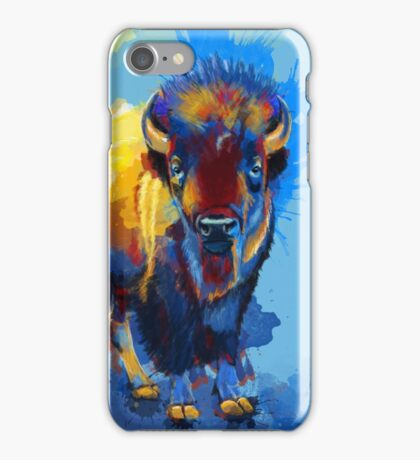 On the Plain - Bison painting iPhone Case/Skin