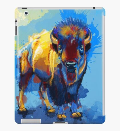 On the Plain - Bison painting iPad Case/Skin