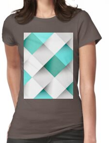 Bathroom Mosaic Pattern Womens Fitted T-Shirt