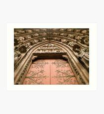 Strasbourg Cathedral - Door Art Print