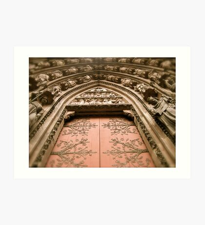 Strasbourg Cathedral - Door Art Print
