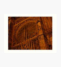 Strasbourg Cathedral - Grand Window Art Print
