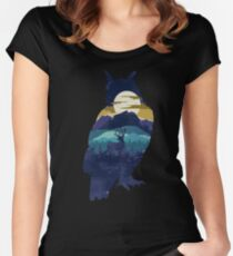 Owl Night Women's Fitted Scoop T-Shirt