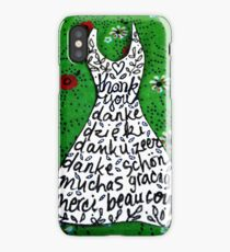'thank you and gracias ...' iPhone Case