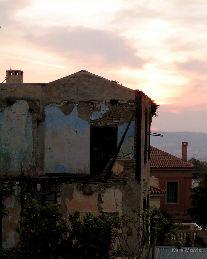 Rooftops in Athens at Sunset by Kara Morris