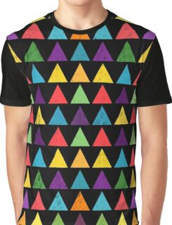 Colorful Geometric Pattern Graphic T-Shirt