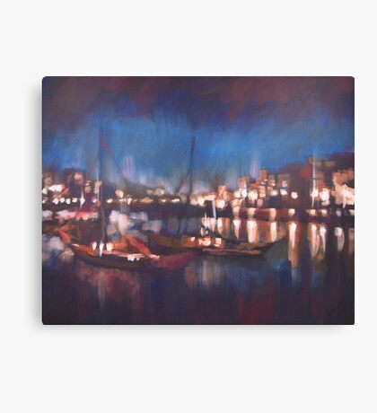 Evening Harbor Canvas Print