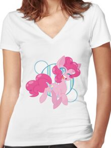 Cotton Candy Princess Women's Fitted V-Neck T-Shirt