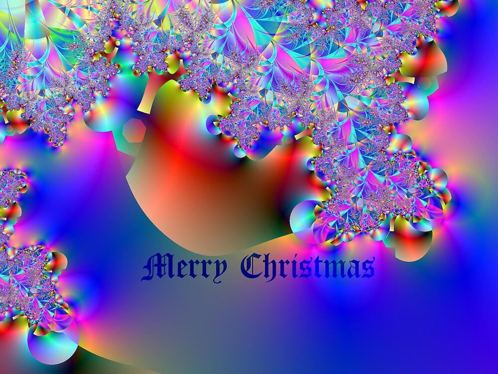 Merry Christmas-Fractal Art by Terry Krysak