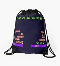 Frogger's Frustration - Devastation Drawstring Bag
