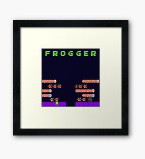 Frogger's Frustration 2 - Timing is Key Framed Print