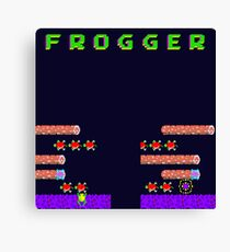Frogger's Frustration 2 - Timing is Key Canvas Print