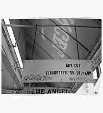 Cigarette Awning Poster