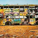 Outback Art - The Bus, Oodnadatta Track by John  Murray
