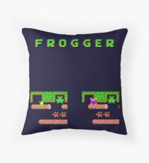 Frogger's Frustration 3 -  Only One More to Go Throw Pillow