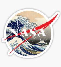 NASA big wave Sticker