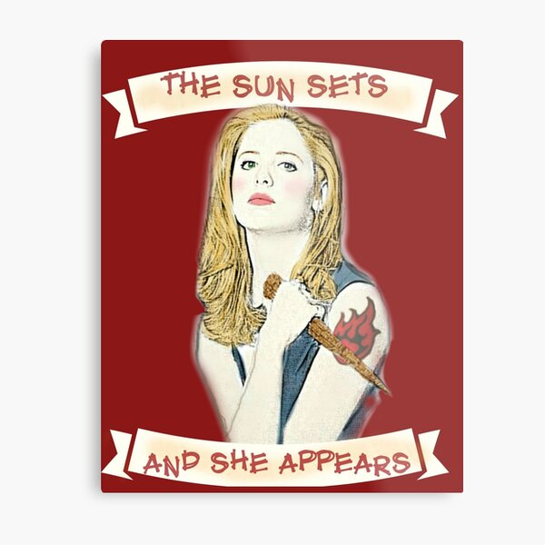 Buffy Lets Me Rest In Peace Metal Print