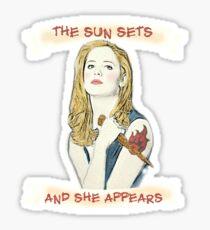 Buffy Lets Me Rest In Peace Sticker
