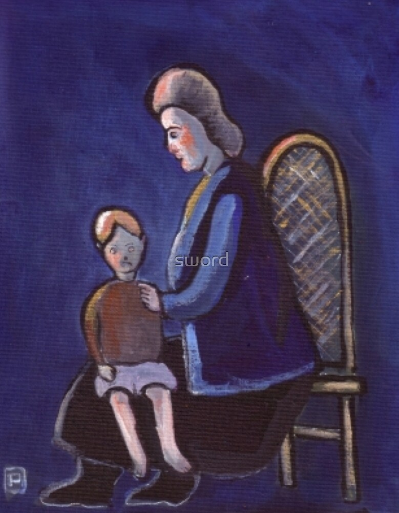 The babysitter (from my original acrylic painting) by sword