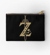 Zelda BOTW Z Gold Logo Initial Zipper Pouch