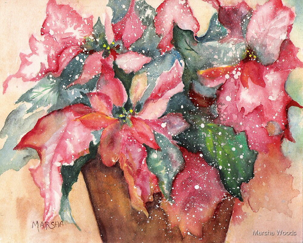 Potted Red and Green by Marsha Woods