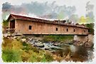 Covered Bridge - watercolour by PhotosByHealy