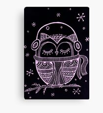 Owl You need is Music Canvas Print
