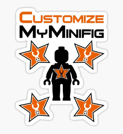Minifig with Customize My Minifig Star Logos Sticker