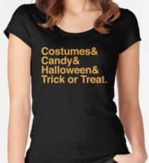Costumes & Halloween & candy & Trick or treat Women's Fitted Scoop T-Shirt
