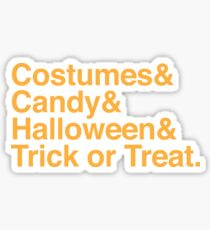 Costumes & Halloween & candy & Trick or treat Sticker