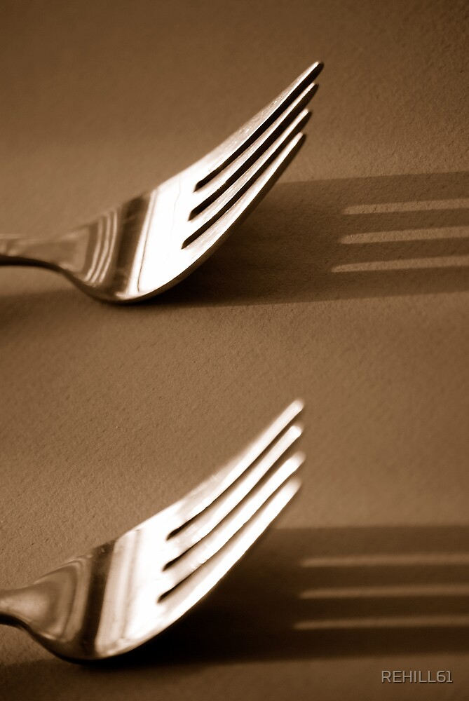 Double Fork Sepia II by REHILL61