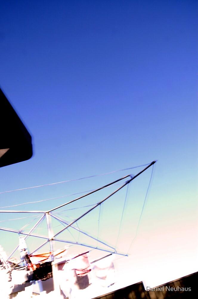 The Bin, The Fence, the sky & The Clothsline... by Daniel Neuhaus