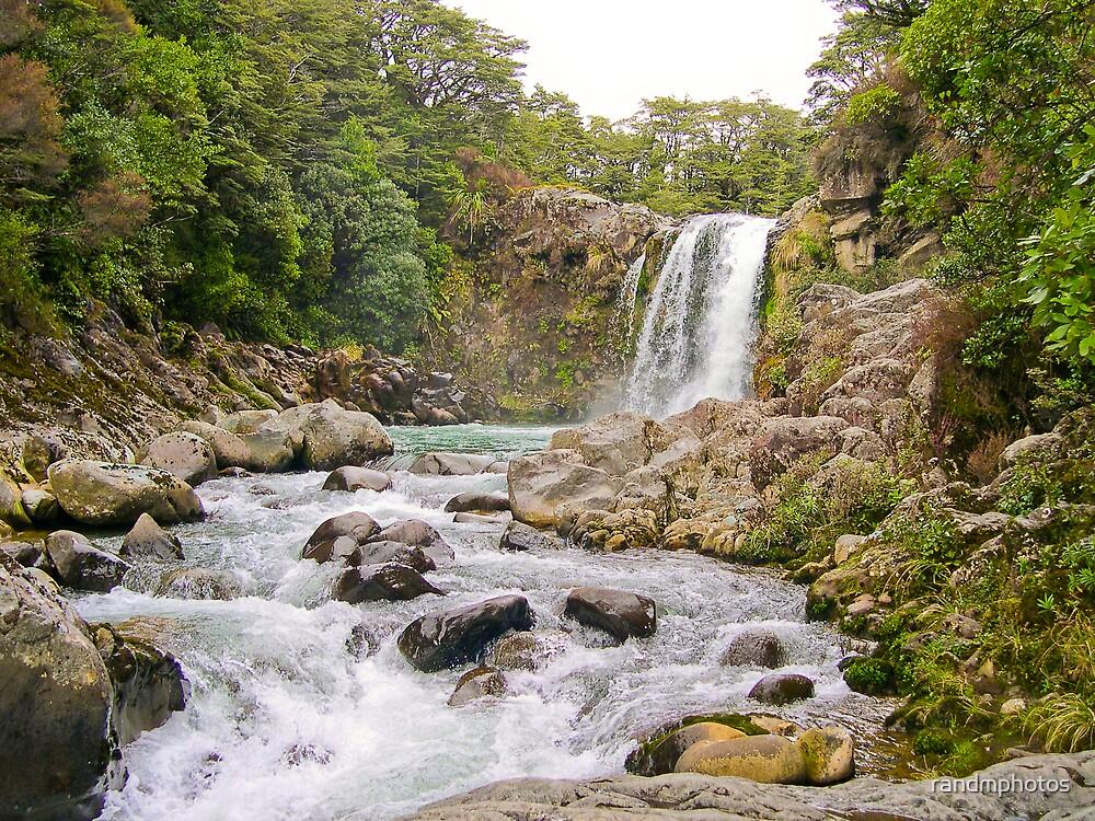 Tongariro Waterfall #1 by randmphotos