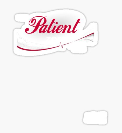 Patient Zero - Pandemic Advertising Sticker