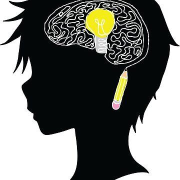 Creative Thinking Anime Boy by Dacdacgirl