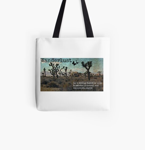 Wanderlust Travel Quote Collection All Over Print Tote Bag