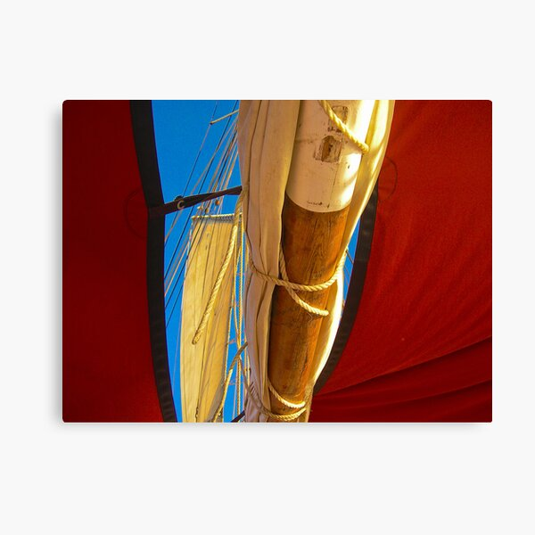 Under The Mast Canvas Print