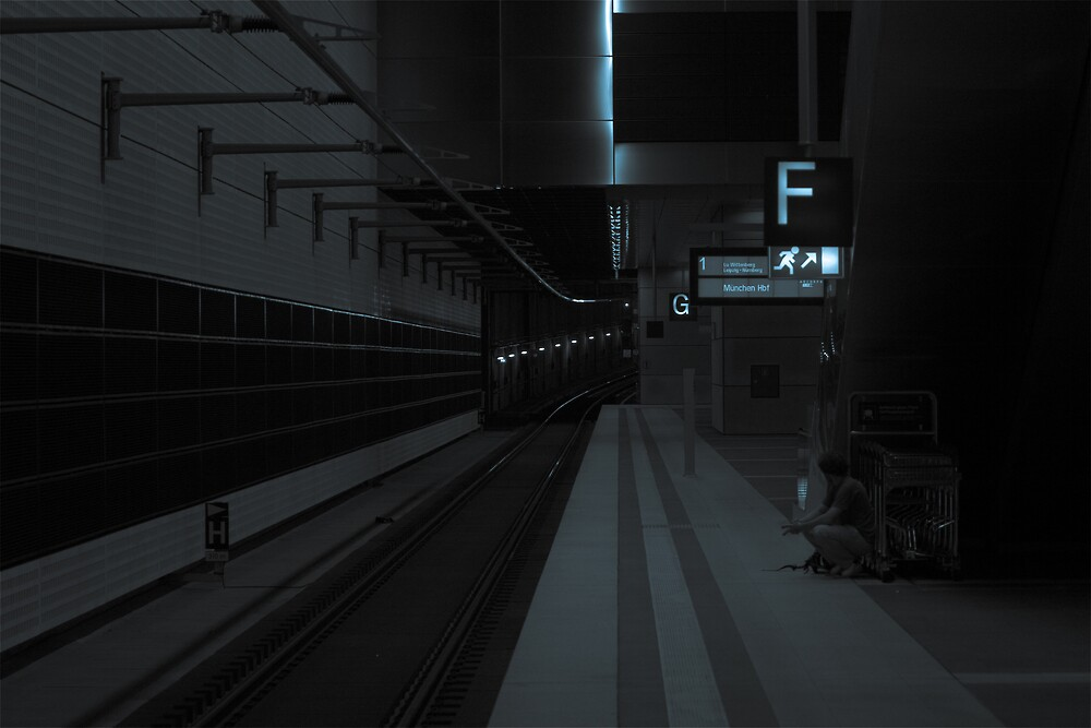 Waiting For The Train by Michael  Newman
