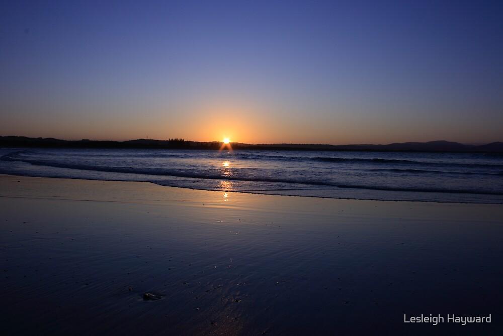 Byron sunset 2 by Lesleigh Hayward
