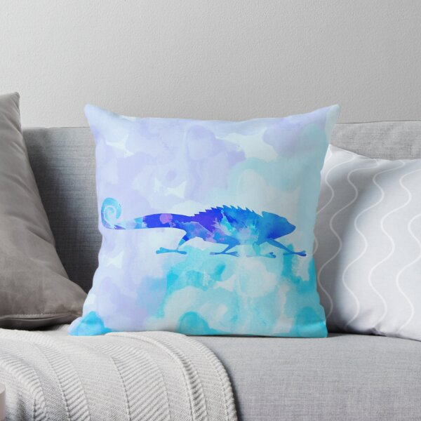 Abstract Chameleon Reptile Throw Pillow