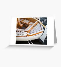 Classic boating Greeting Card