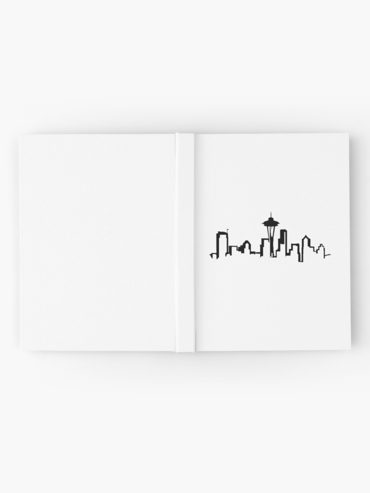 Vista alternativa de Cuaderno de tapa dura SEATTLE SKYLINE